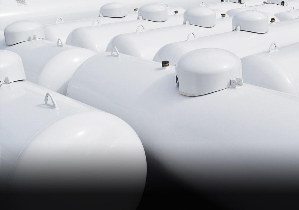 LPG domestic tanks and propane dispensers