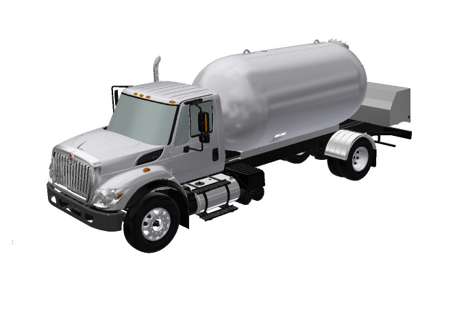 single axle bulk truck for propane transportation