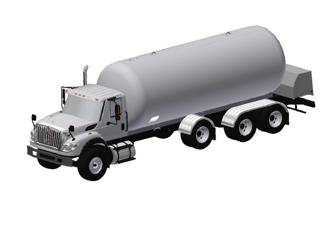 tri axle bulk truck for propane transportation