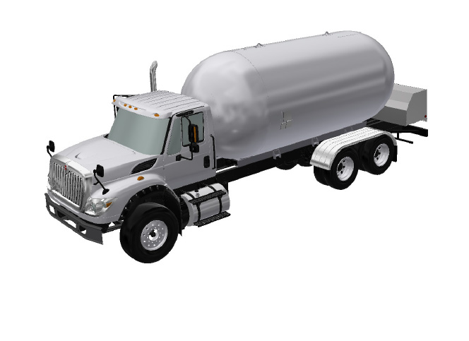 twin axle bulk truck for propane transportation